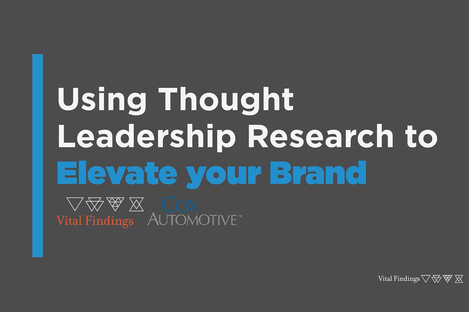 Using Thought Leadership Research to Elevate Your Brand